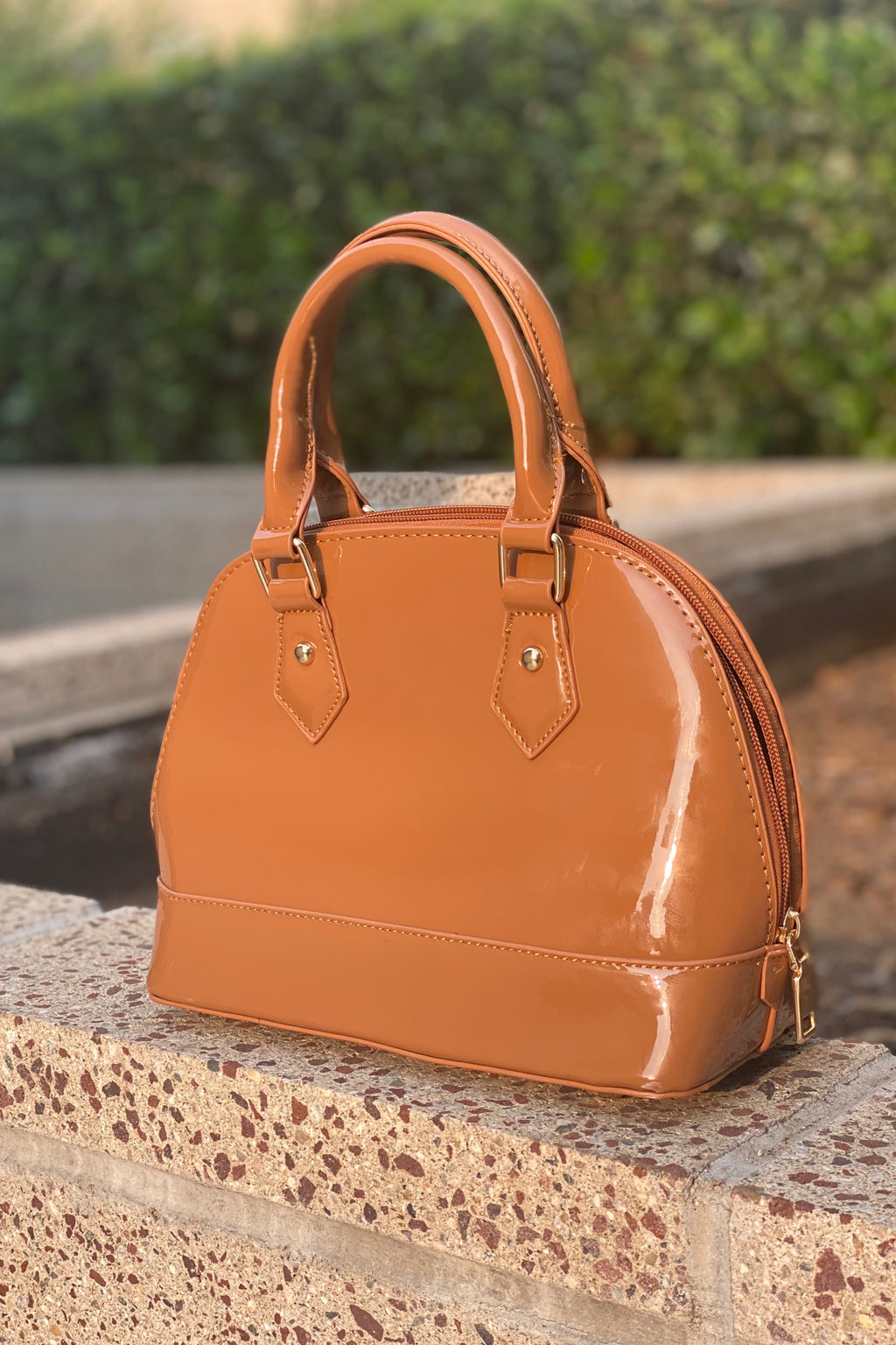 Medium Caramel Bag Hand Strap