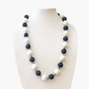 Large Bead Necklace Black and White