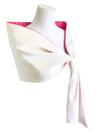 Arles Scarf Fuchsia reversible to White