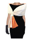 Arles Scarf Orange reversible to White