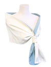 Arles Scarf Light Blue reversible to White