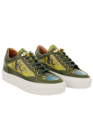 Aqua & Rock Premium designer art inspired trainers eco friendly sustainably sourced leather