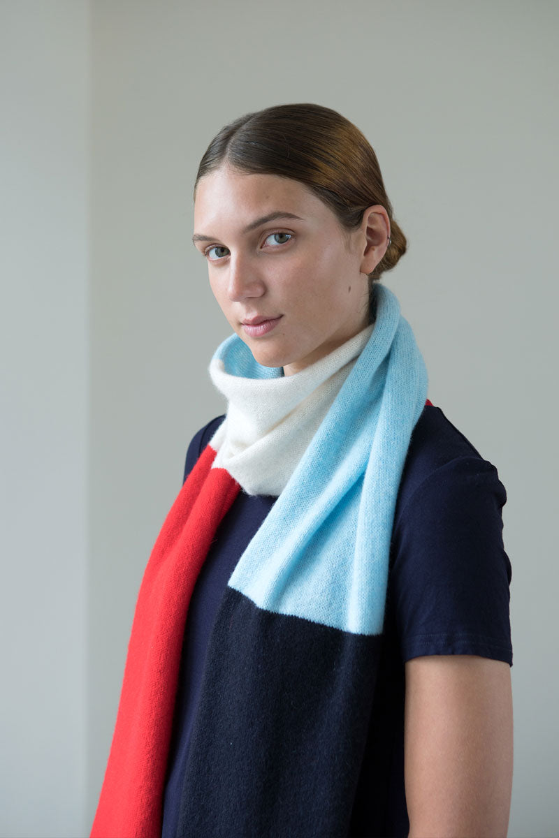 Aqua & Rock sustainably sourced patch premium designer scarf