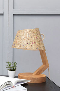 Table Lamp Oak & Hay