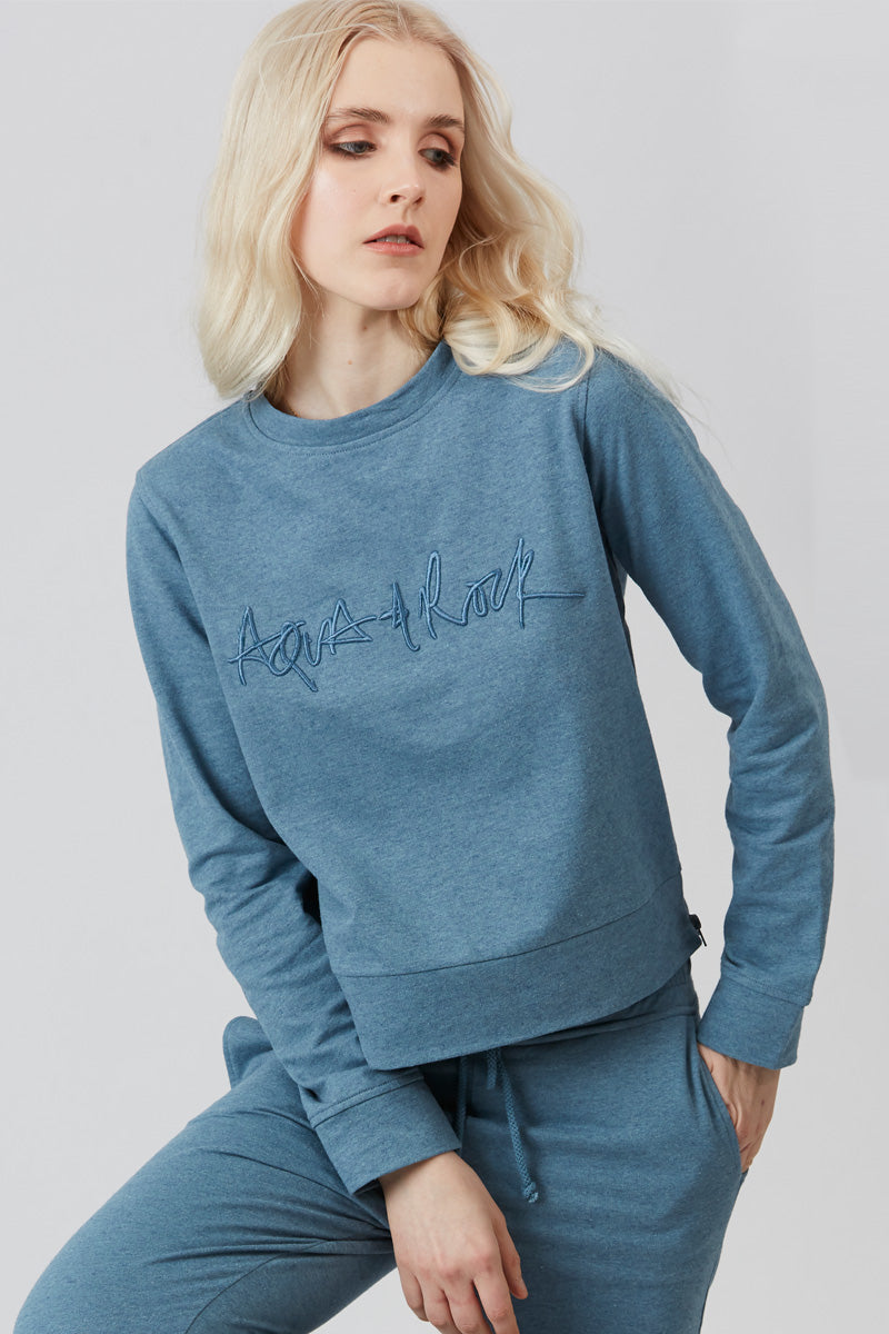 Bay of Blue Aqua & Rock Sweatshirt