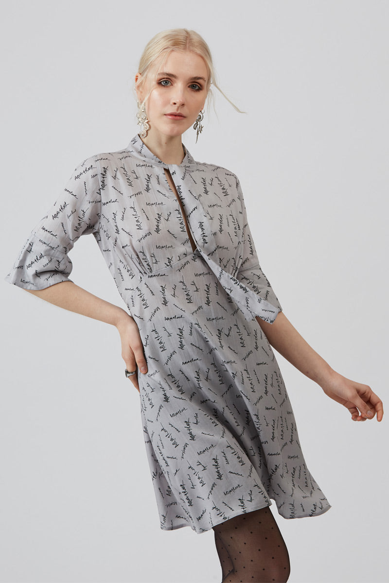 Grey Siena Short Shirt Dress