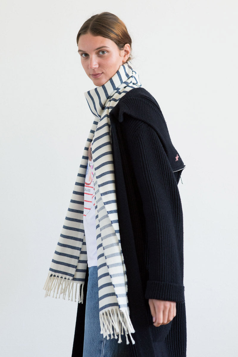 Aqua & Rock sustainable striped nautical premium designer scarf