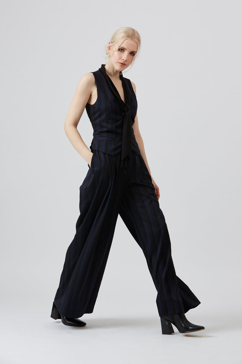 Cambridge Flare Trousers Navy & Black