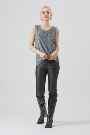 Grey Shore Sleeveless Aqua & Rock T-shirt