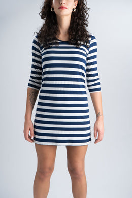 Sustainable striped dress