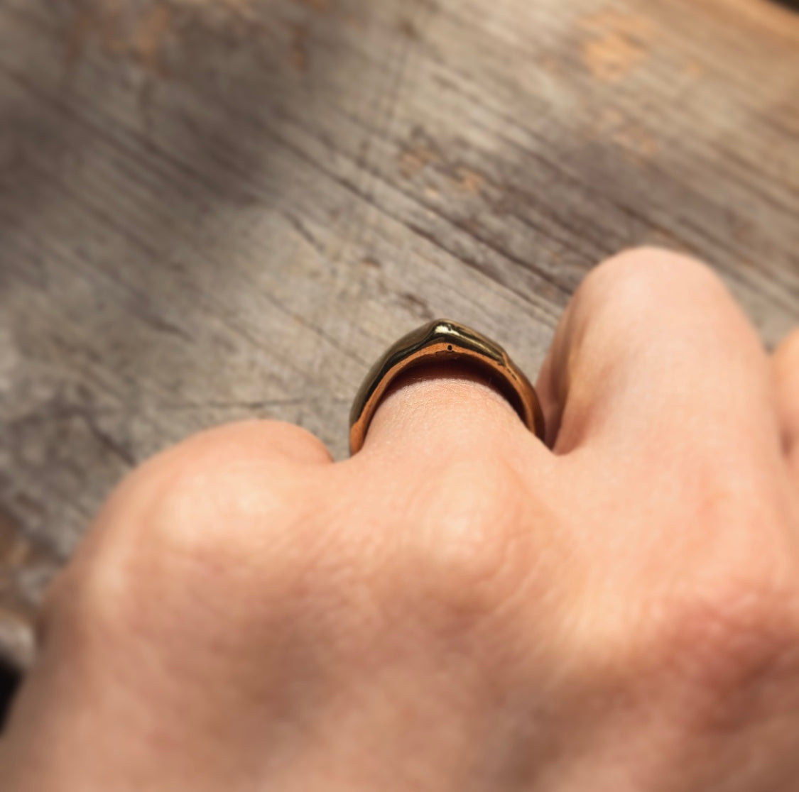 Gold Pinch Ring