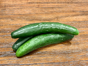 Japanese Cucumber (3 Count)-Local Vista, CA Grower-  High Quality, Lets help our Local Farmers