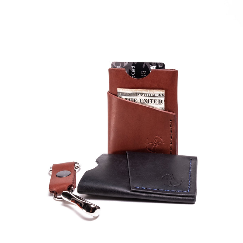 SLIM MINIMALISTIC LEATHER WALLET, Brown FULL GRAIN LEATHER                         - Exclusively on Amazon.ca