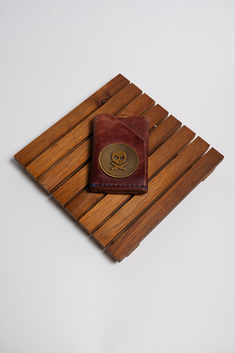 "The ""John Wick"" Shell Cordovan Minimalistic Front Pocket Wallet - With or Without Challenge Coin Cutout"