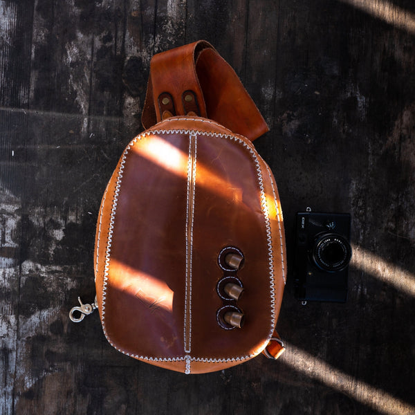 Leather Backpack / Sling Bag -  Every Day Carry Bag