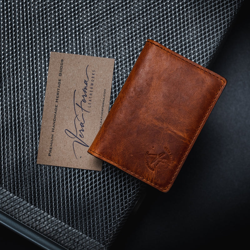 "The  ""Commodore"" Minimalist Bi-Fold Wallet -"