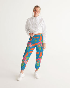 Tropical Flower Power Blue Women's Track Pants