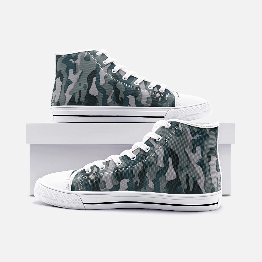 Load image into Gallery viewer, Camo High Top Canvas Shoes