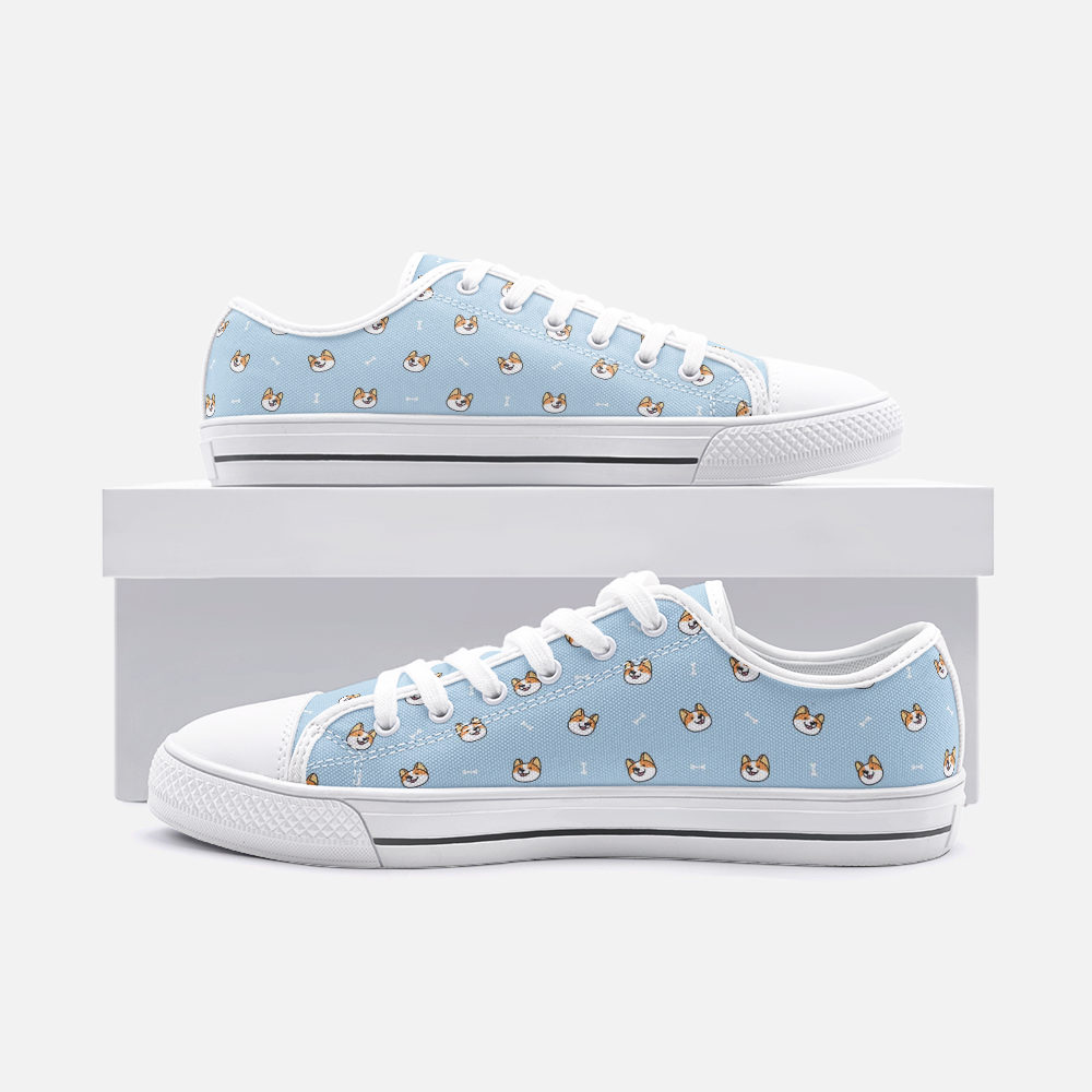 Dog & Bone Blue Low Top Unisex Canvas Sneakers
