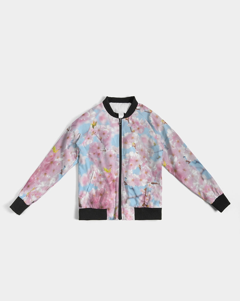 Load image into Gallery viewer, Cherry Blossom Sky Women's Bomber Jacket