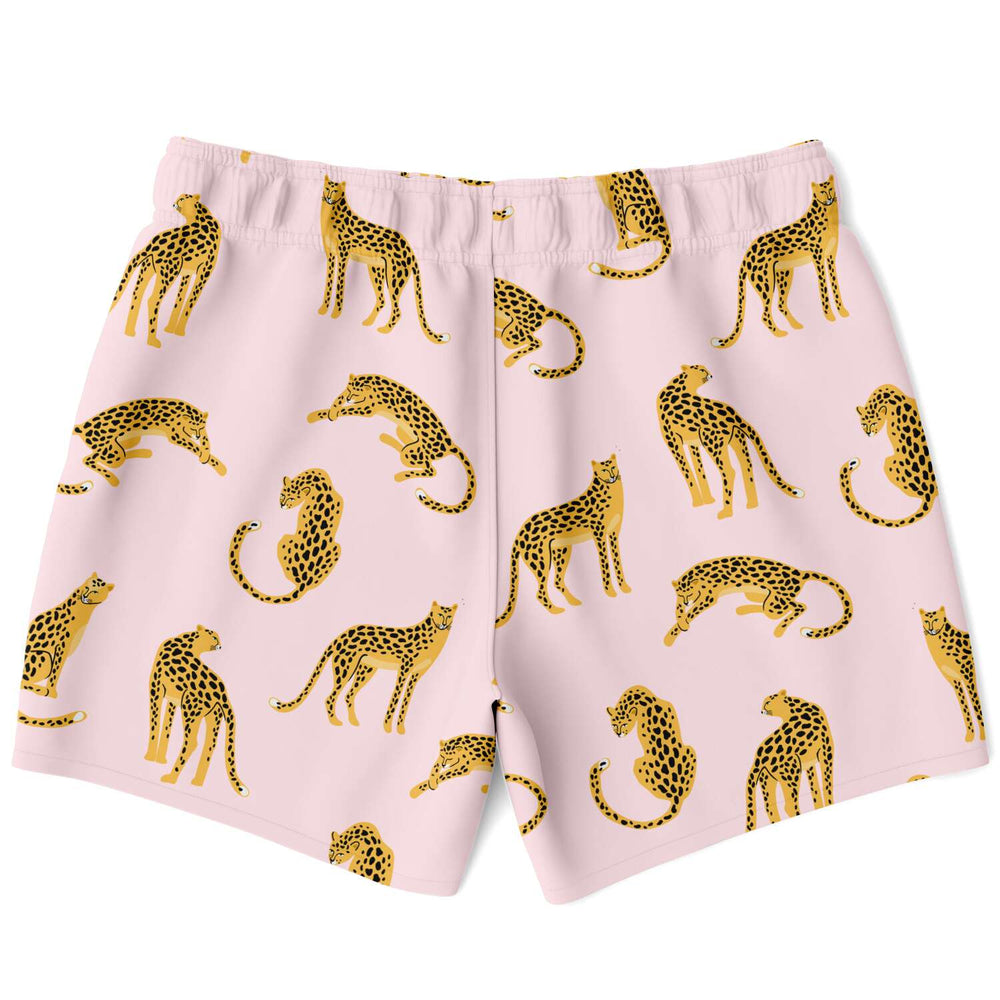 Load image into Gallery viewer, Pink Leopards Swim Shorts