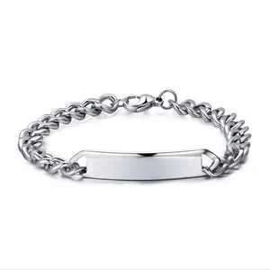 Personalized Classic Link Chain Bar Bracelet