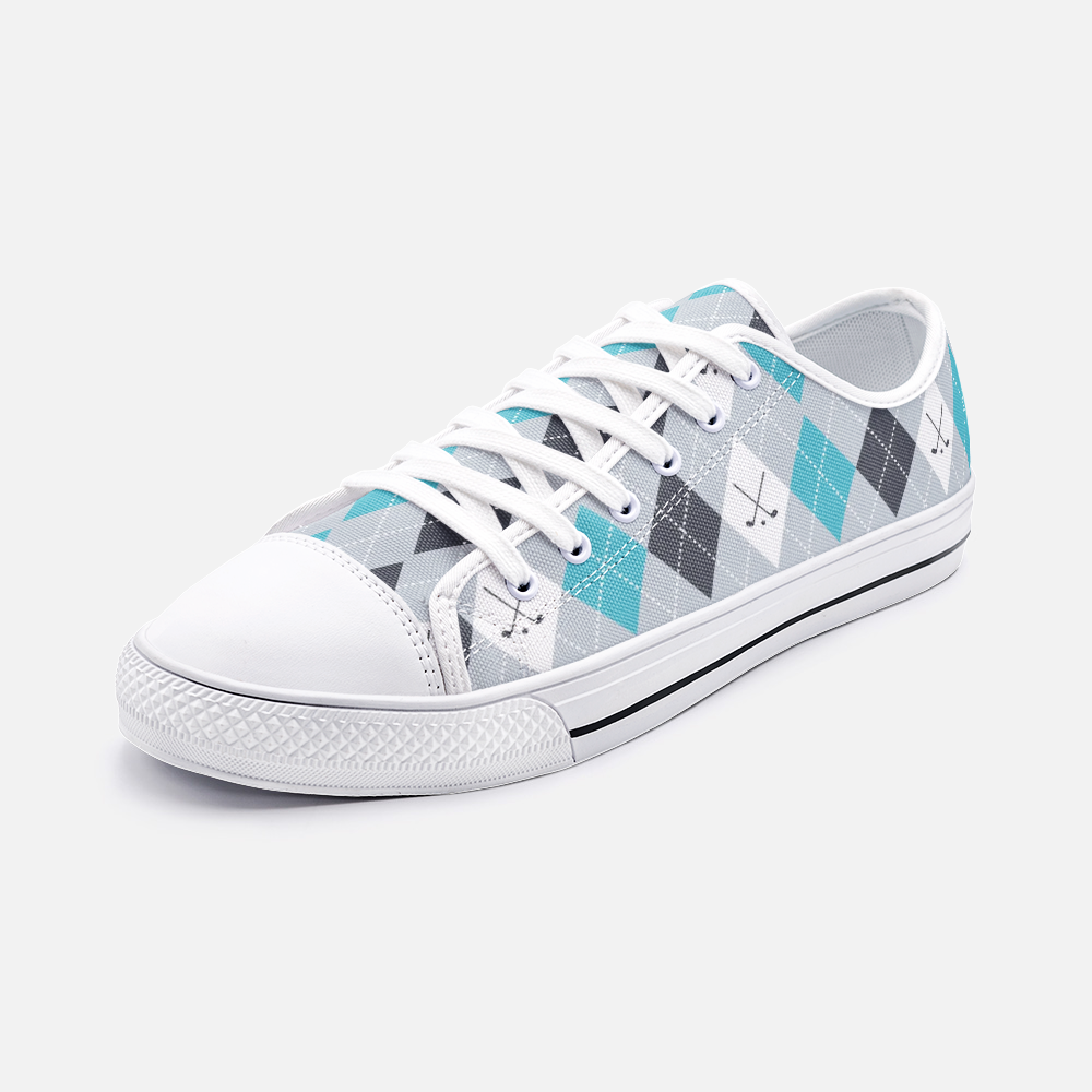 Golf Pattern Low Top Unisex Canvas Sneakers