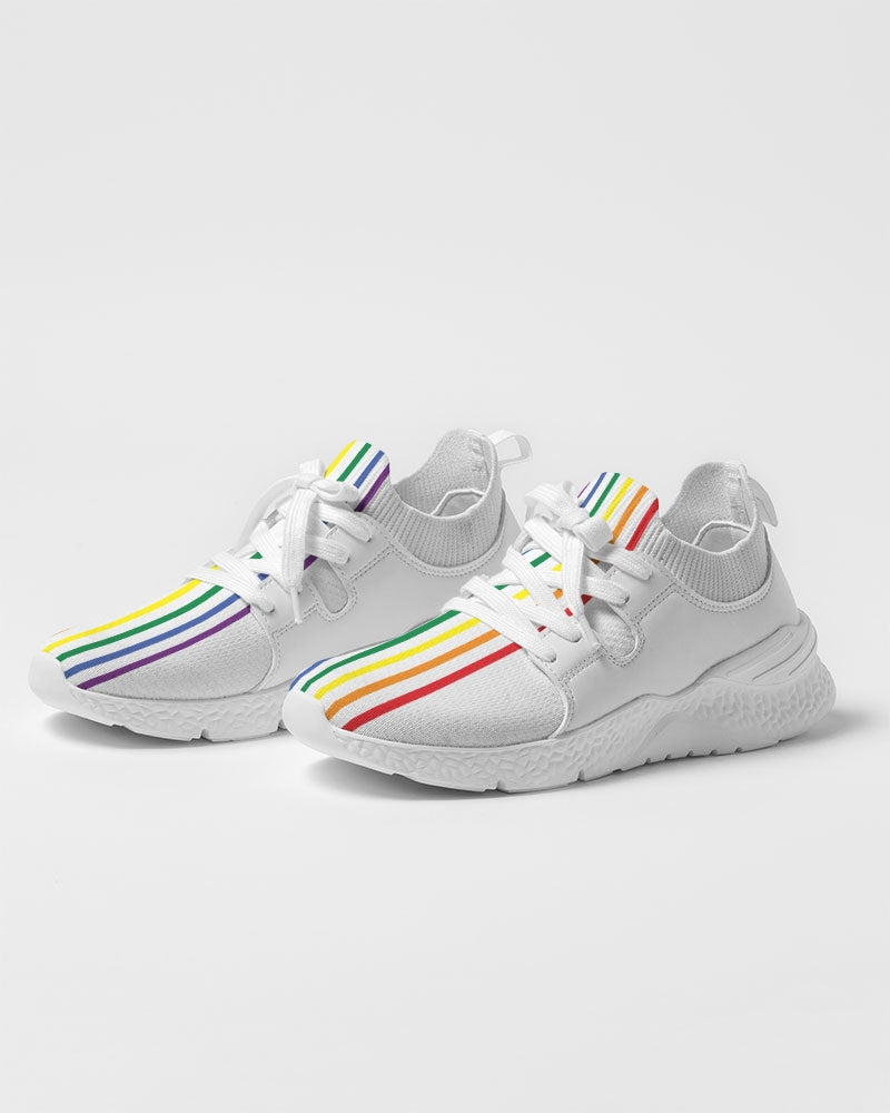 Rainbow Pride Stripe Men's Two-Tone Sneaker