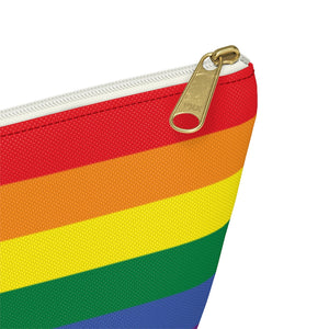 Load image into Gallery viewer, Personalized Rainbow Accessory Pouch w T-bottom
