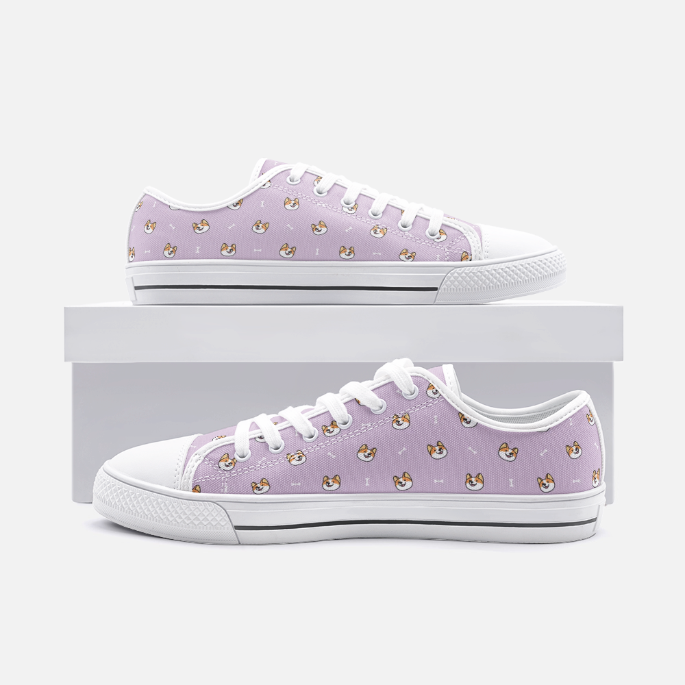 Load image into Gallery viewer, Dog & Bone Mauve Low Top Unisex Canvas Sneakers