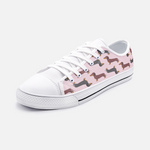 Dachshund Pink Low Top Unisex Canvas Sneakers