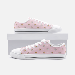 Dog & Bone Pink Low Top Unisex Canvas Sneakers