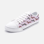 Dachshund Mauve Low Top Unisex Canvas Sneakers