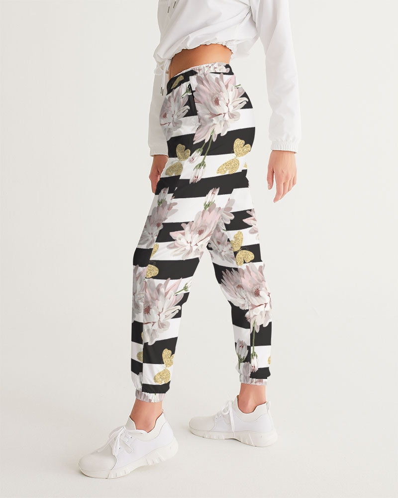 Load image into Gallery viewer, Pink Chrysanthemum Butterflies Women's Premium Track Pants