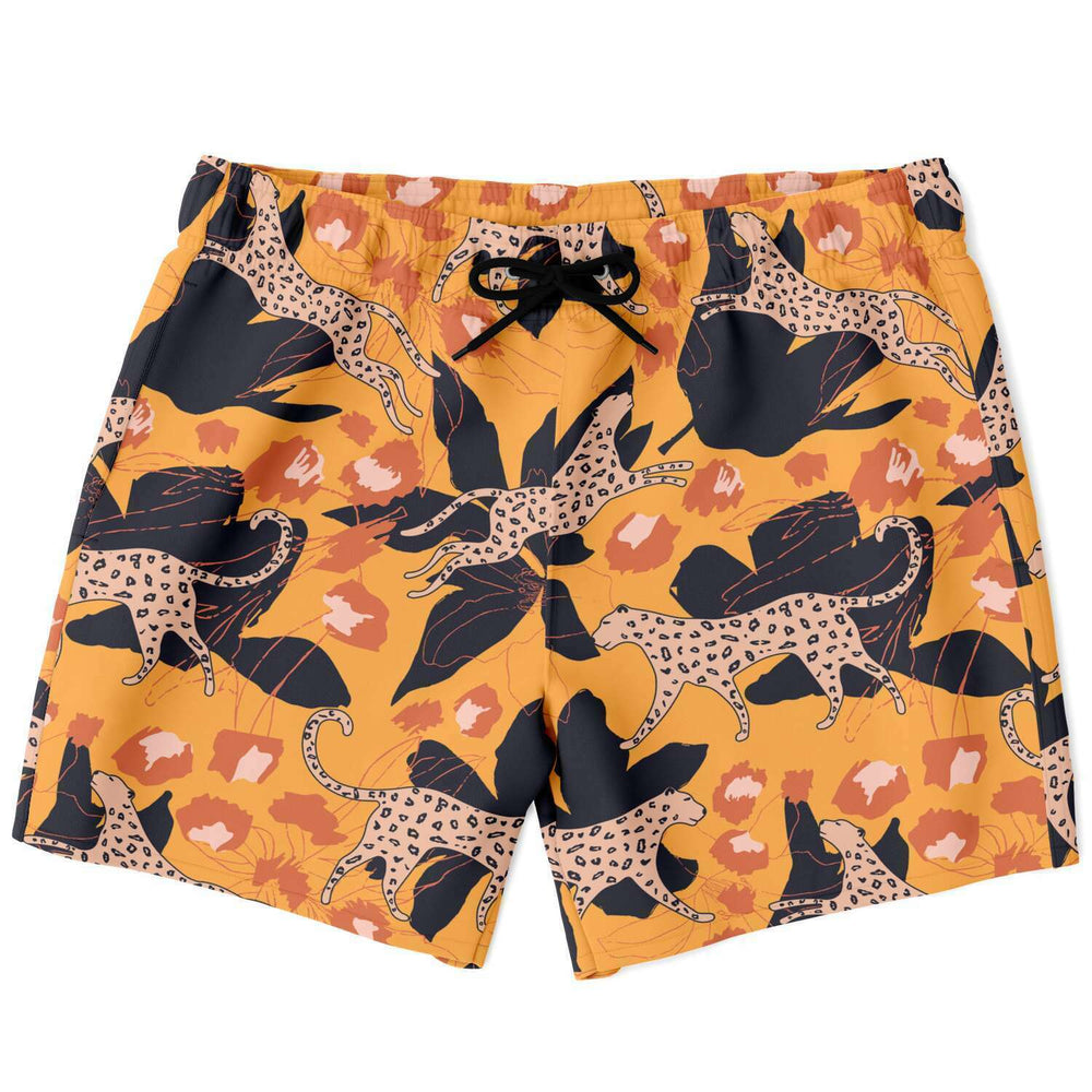 Load image into Gallery viewer, Jungle Leopard Swim Shorts