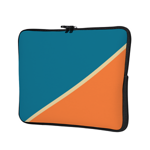 Load image into Gallery viewer, Personalized Laptop Sleeve - Blue & Orange