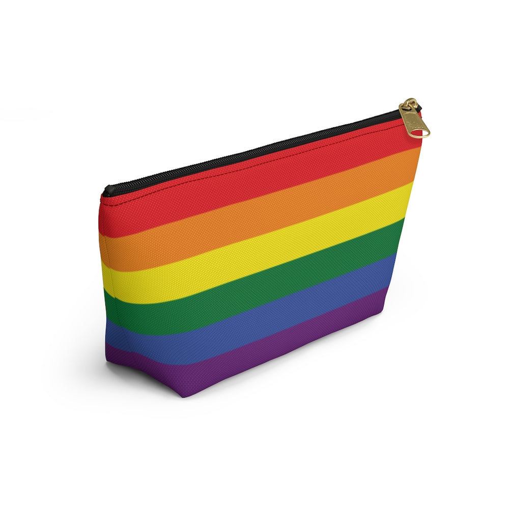 Personalized Rainbow Accessory Pouch w T-bottom