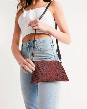 Load image into Gallery viewer, Red Snake Skin Wristlet