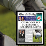 The Daily Golf Legend News Single Page Personalized Print - Male