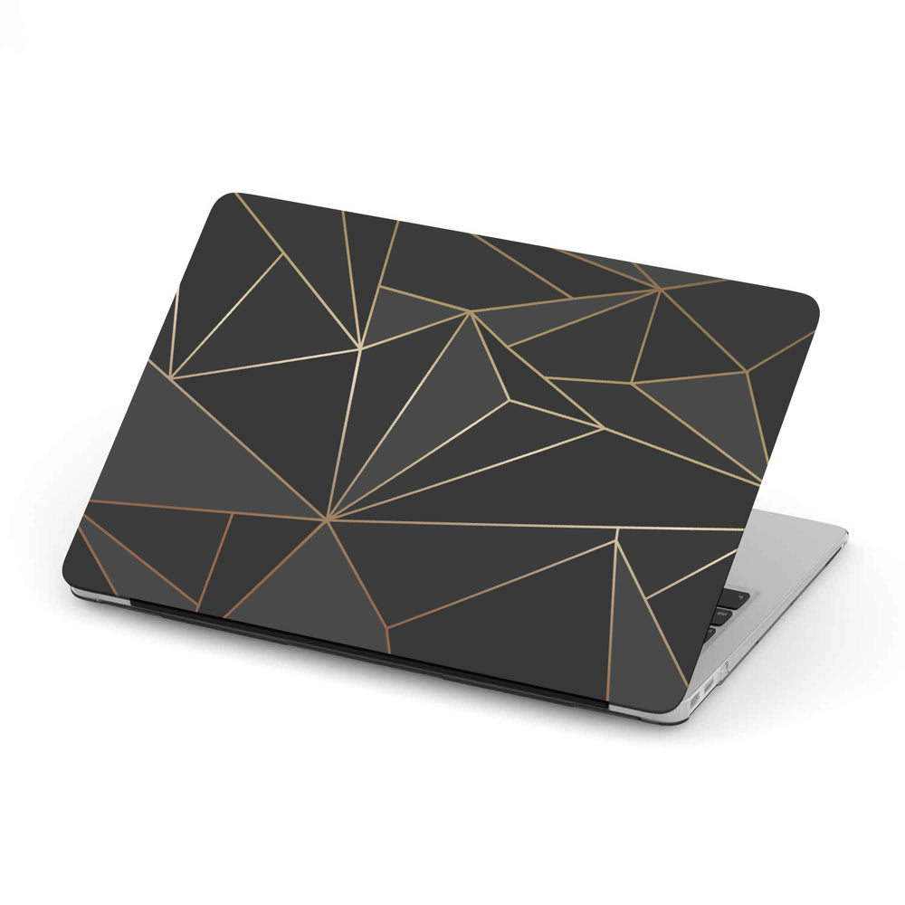 Macbook Hard Shell Case - Black & Gold Geometric