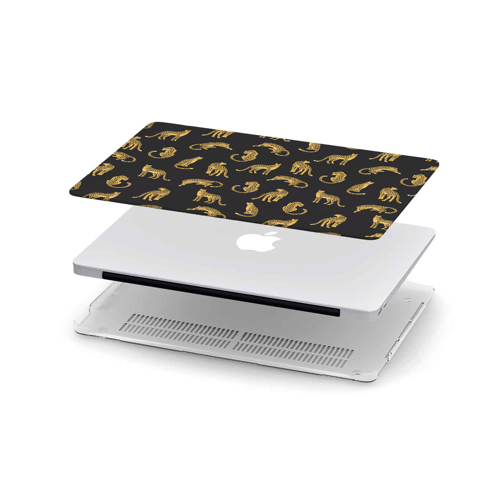 Macbook Hard Shell Case - Black Leopard Pattern