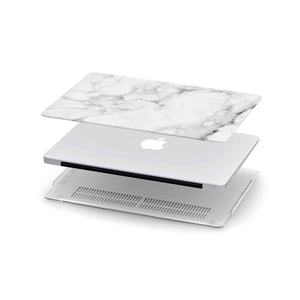 Load image into Gallery viewer, Macbook Hard Shell Case - White Marble (Personalized)