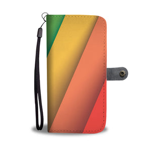 LGBT Diagonal Flag Phone Wallet Case