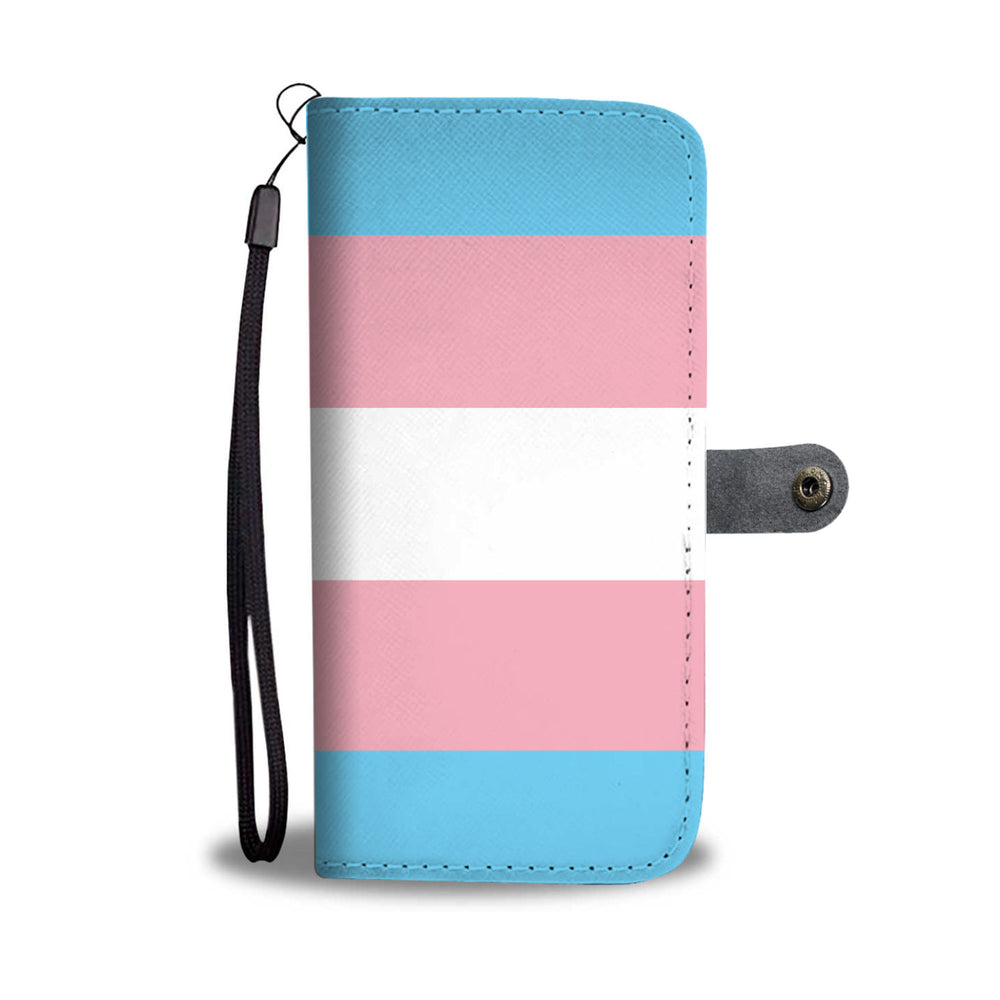 Blue Pink & White Stripe Phone Wallet Case (Pride Flag)