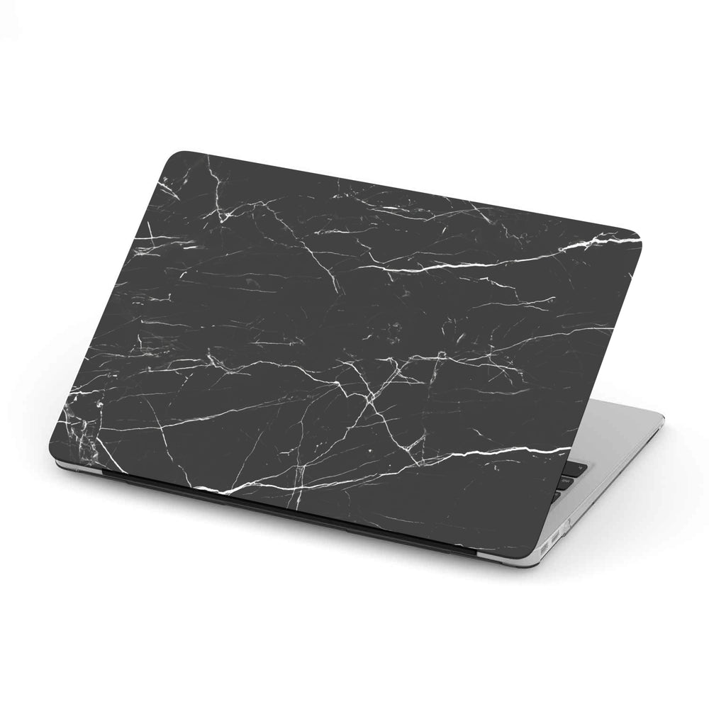 Macbook Hard Shell Case - Black Streaky Marble