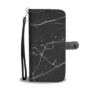 Black Marble Phone Wallet Case
