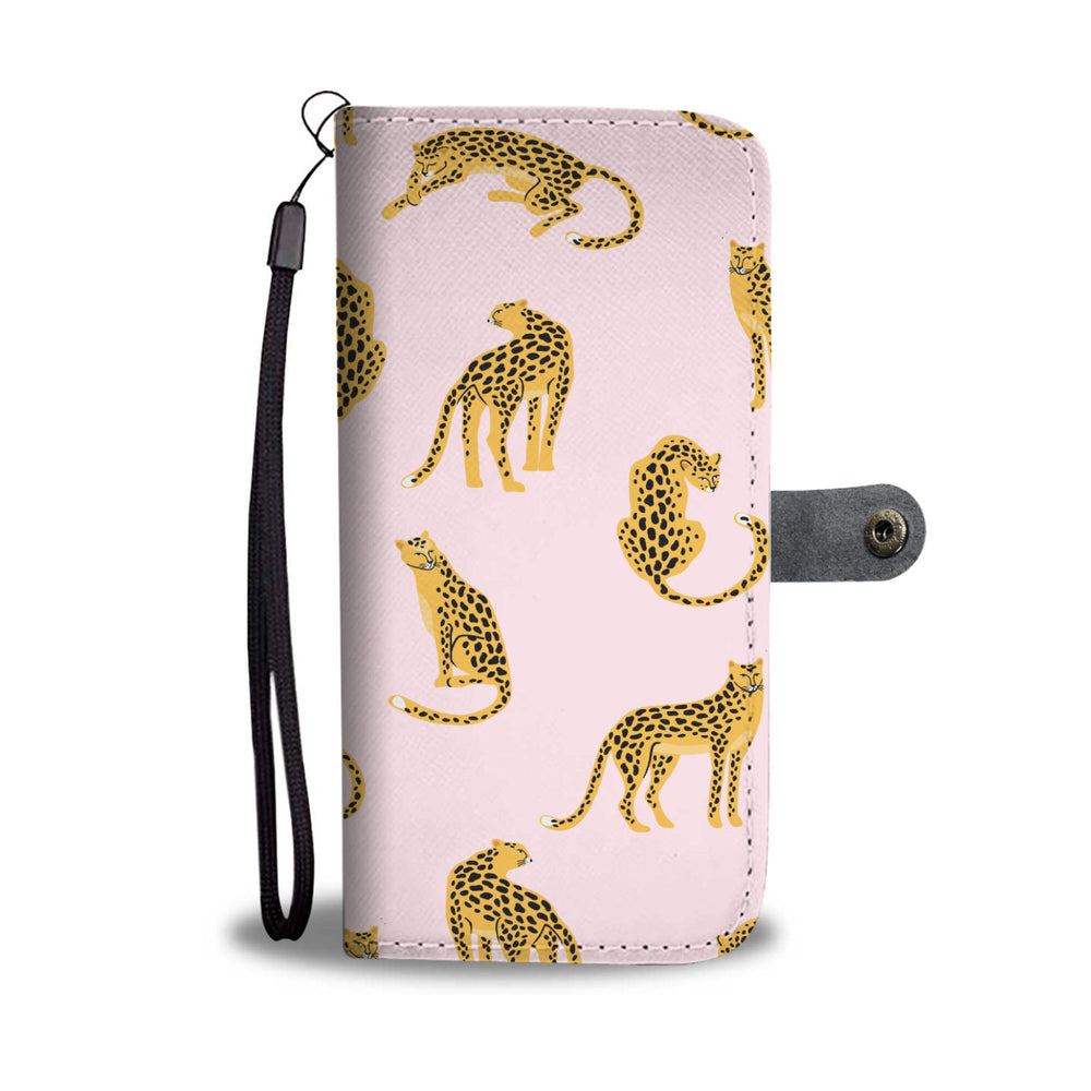 Pink Leopards Phone Wallet Case