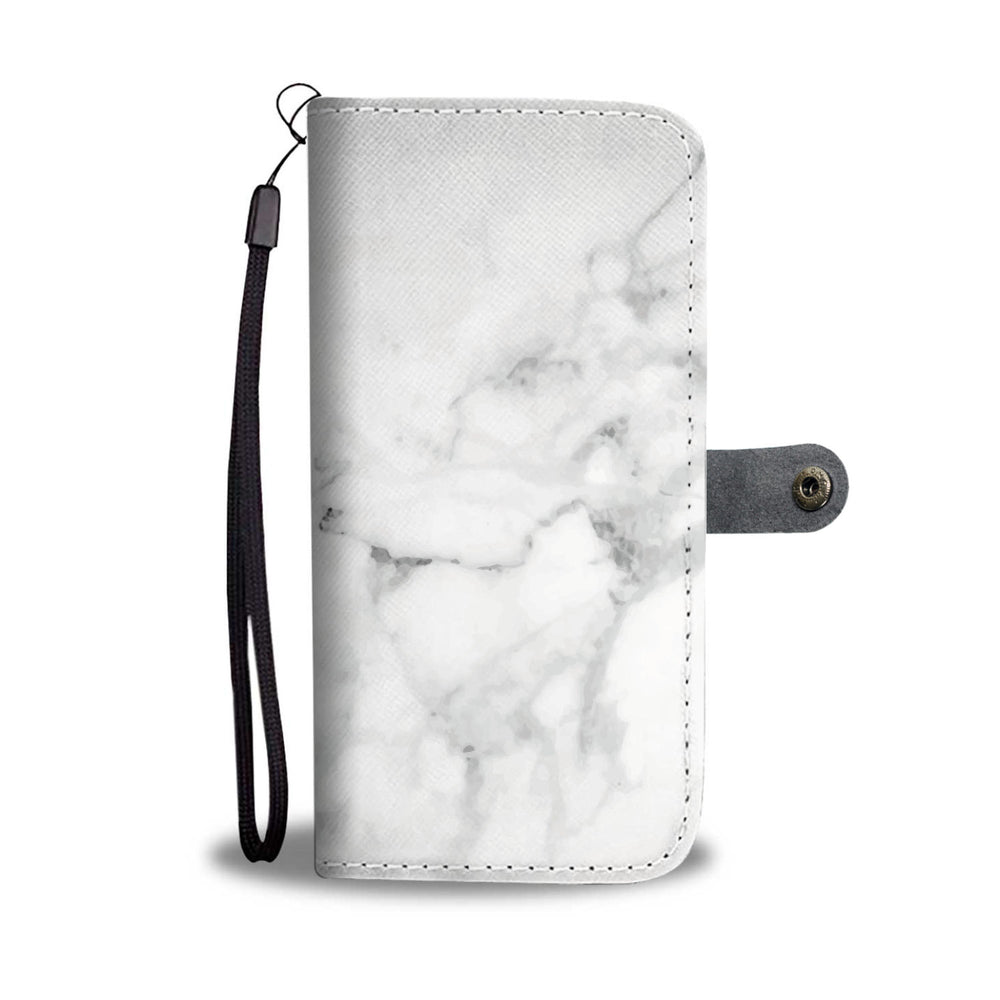 White Marble Phone Wallet Case