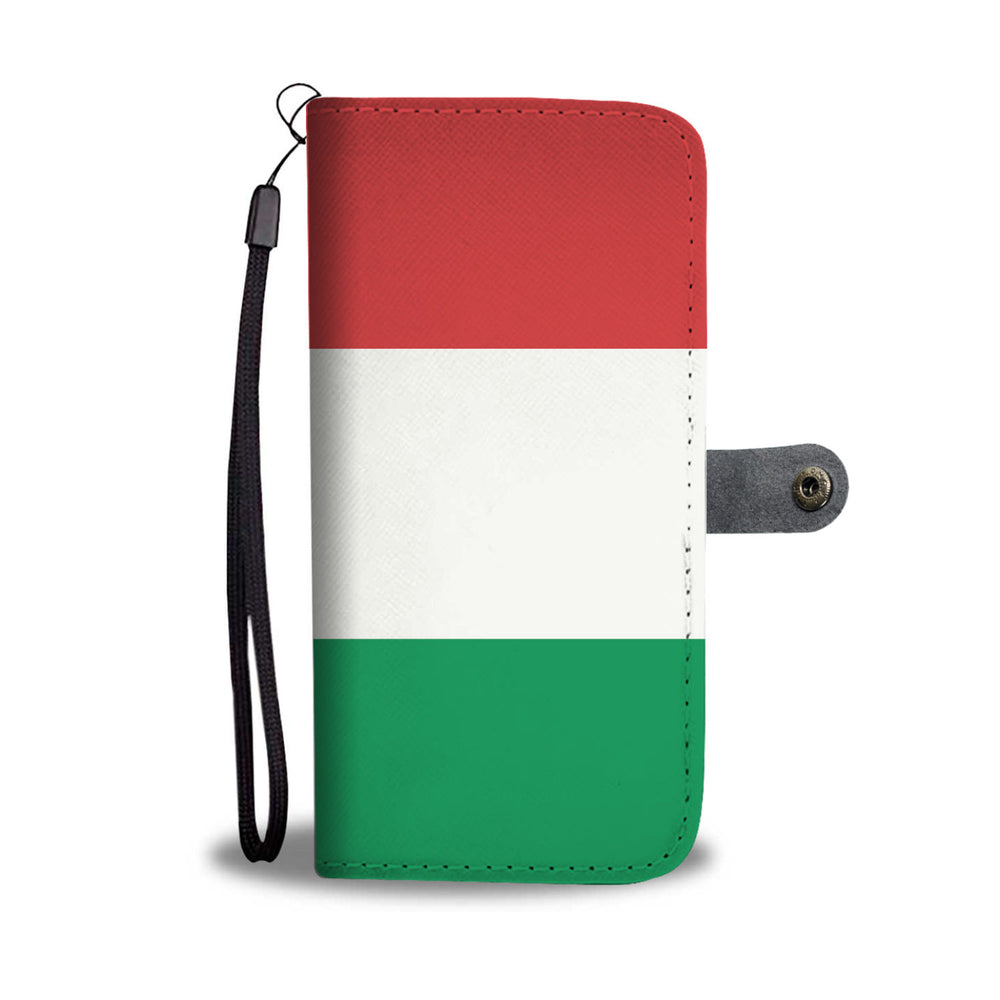 Italy Flag Phone Wallet Case