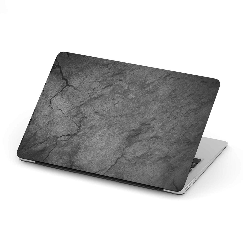 Macbook Hard Shell Case - Black Cracked Concrete